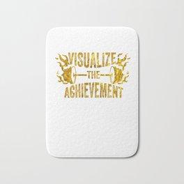 Motivating Visualize The Achievement Workout Apparel Gold Bath Mat