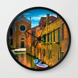Italy. Venice motorway Wall Clock