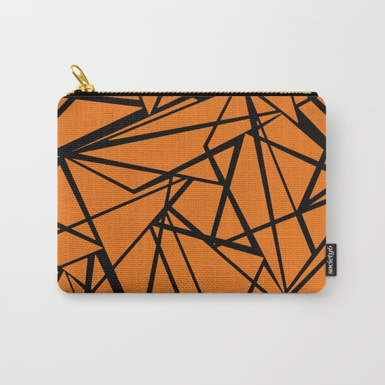 Orange black abstract pattern . Carry-All Pouch