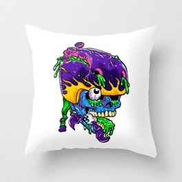 Skater zombie. Throw Pillow