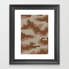 CUBOUFLAGE DESERT Framed Art Print
