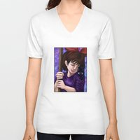 kiki V-neck T-shirts featuring Kiki and Jiji by Kimberly Castello