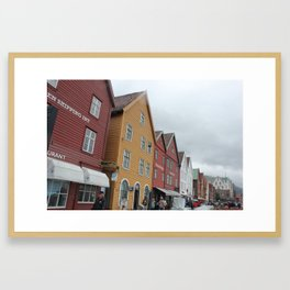 Old Wharf Bergen, Norway Framed Art Print