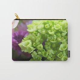 Mini Green Hydrangea Flower Bouquet Carry-All Pouch