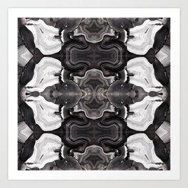 Agate Knocked Down Art Print