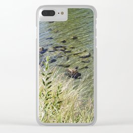 The Calm Along the River Clear iPhone Case