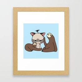 A Hug a Day Keeps the Grumpiness Away Framed Art Print