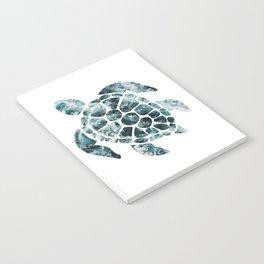 Sea Turtle - Turquoise Ocean Waves Notebook