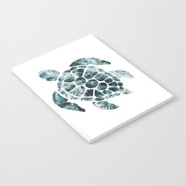 Sea Turtle - Turquoise Ocean Waves Notebook