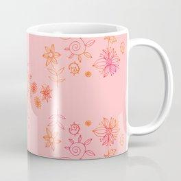 Summer dream flower bed - orange and cerise on rose Coffee Mug