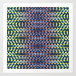 Traditional Japanese pattern KIKKO Art Print
