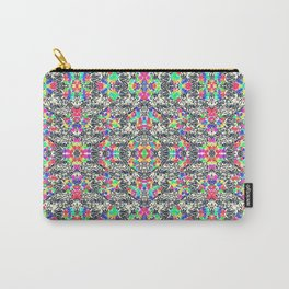 colorful black mosaic Carry-All Pouch