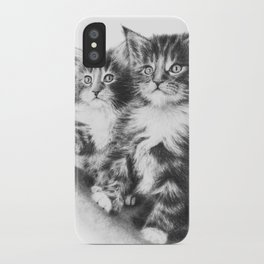 Double Dose of Kitten Cuteness iPhone Case