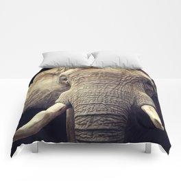 Elephant portrait Comforters