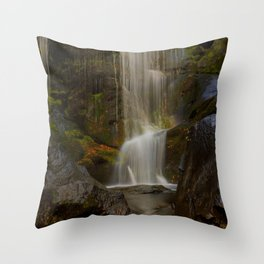 Smooth Waterfall (Color) Throw Pillow
