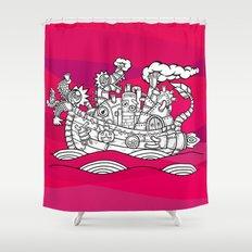 dragon ship Shower Curtain