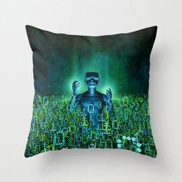 Virtual Dawn Throw Pillow