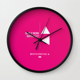 Perfect Logo Series (1 of 11) Wall Clock