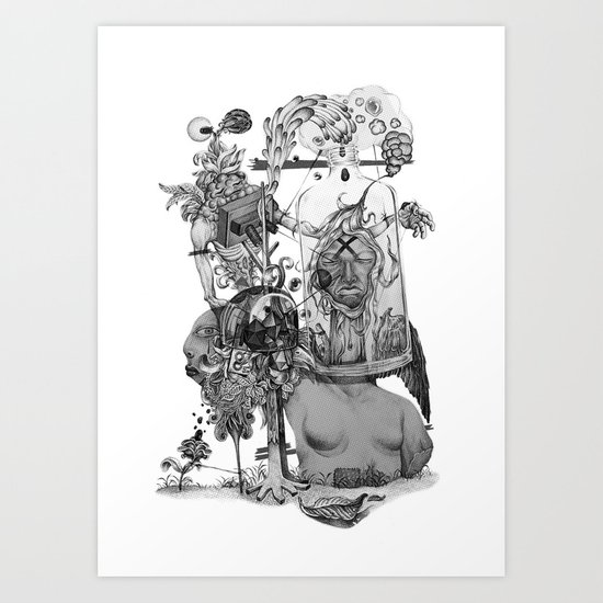Untitled {BW} Art Print