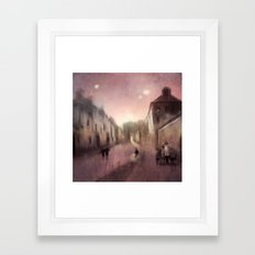 Into Town Framed Art Print