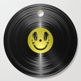Vinyl headphone smiley Cutting Board