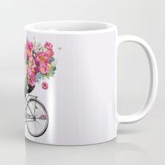 floral bicycle  Mug