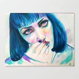 Mia Wallace (blu) Canvas Print