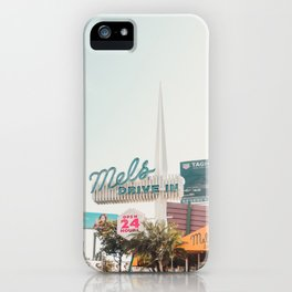 Mel's Drive In Diner Sunset Blvd Hollywood California iPhone Case