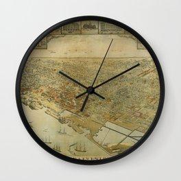 Galveston, Texas 1885 Wall Clock