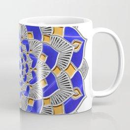 Maize & Blue Geometrical Mandala Flower Coffee Mug