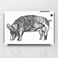 pig iPad Cases featuring Pig by Ejaculesc