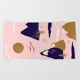 Mountain Scape Beach Towel