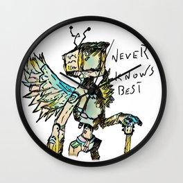A black winged angel. Wall Clock