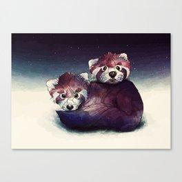 red pandas Canvas Print