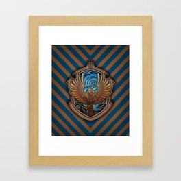 Hogwarts House Crest - Ravenclaw Book Framed Art Print