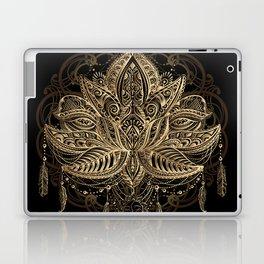Lotus Black & Gold Laptop & iPad Skin