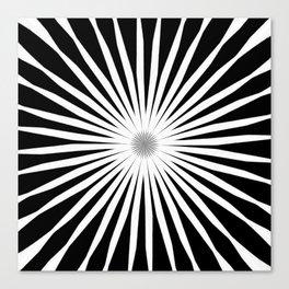Starburst Black and White Pattern Canvas Print