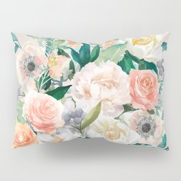 Pastel bouquet with roses Pillow Sham