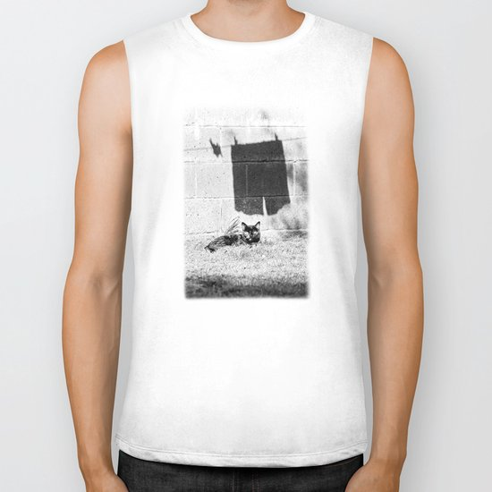 The cat and the pants Biker Tank