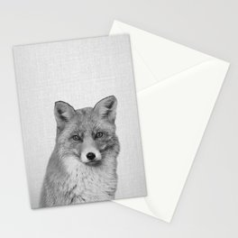 Fox - Black & White Stationery Cards