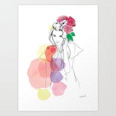 Flower Crowns Art Print
