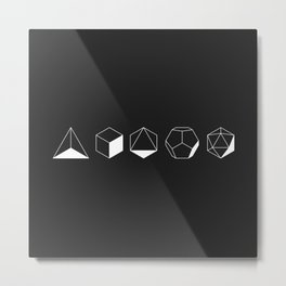 Platonic Metal Print