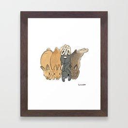 They love IKEA bunny stuffy Framed Art Print