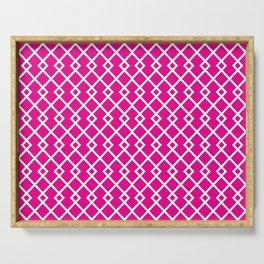 Hot Pink Diamond Pattern Serving Tray