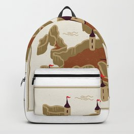 European fortress Game Style Backpack