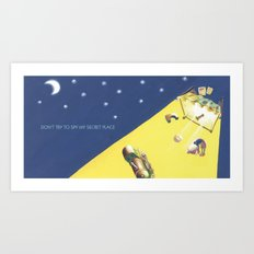 POEM OF BED Art Print