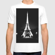 Paris Black & White Mens Fitted Tee White MEDIUM