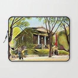 Providence Athenæum Library Benefit Street Landscape Painting by Jeanpaul Ferro Laptop Sleeve