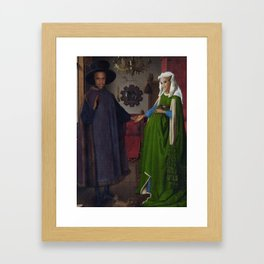 Bey and Jay Before Blue Framed Art Print