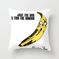 velvet underground Throw Pillows featuring The Velvet Ooonderground by Hitsville